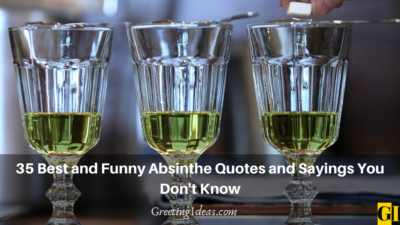 35 Best and Funny Absinthe Quotes and Sayings You Don't Know
