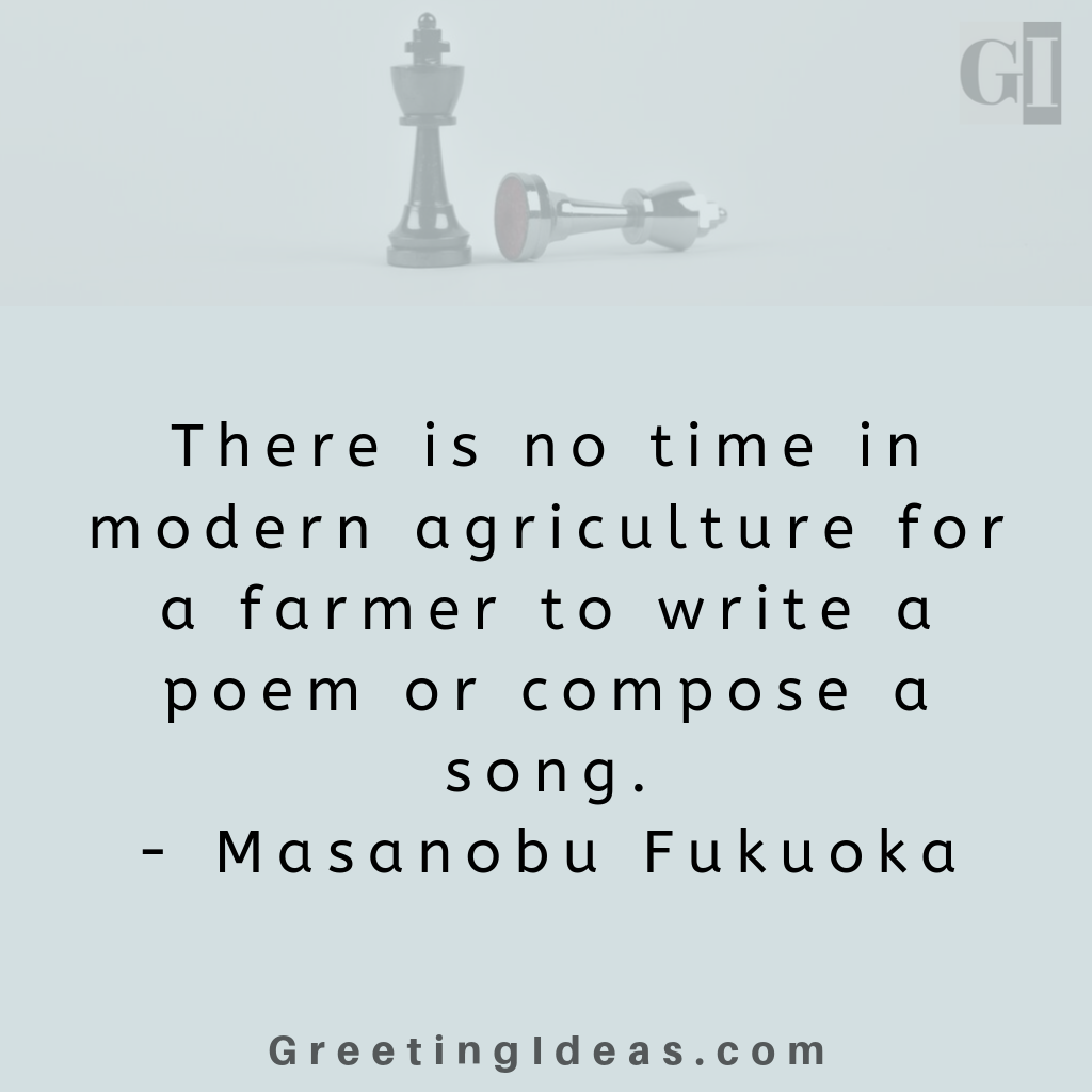 Inspiring Agriculture Quotes and Saying - Famous Quotes about Agriculture