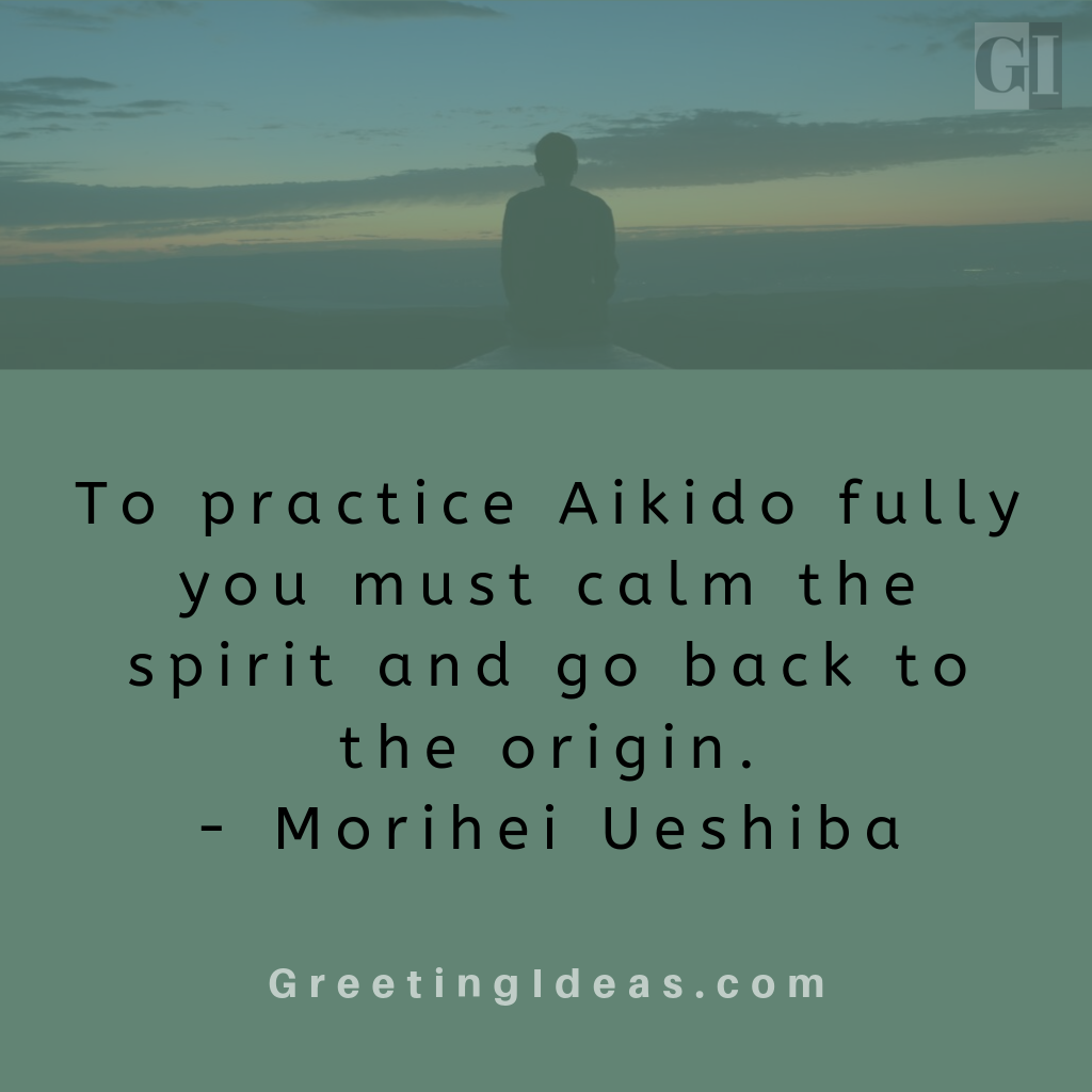 Great Aikido Quotes by Morihei Ueshiba - Aikido Philosophy Quotes