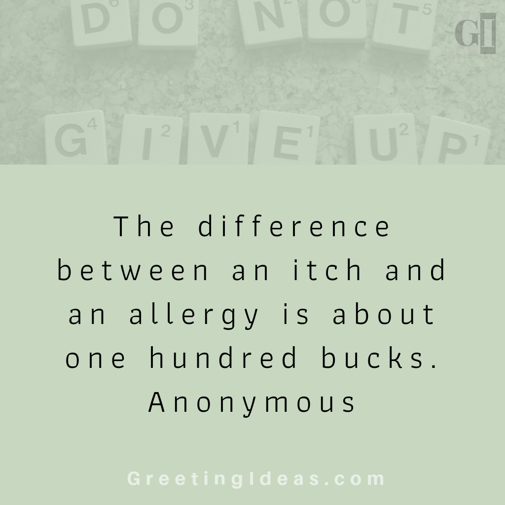 Allergy Quotes On Food and Life: Must Read Humor Quotes on Allergies