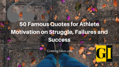 50 Famous Quotes for Athlete Motivation on Struggle, Failures and Success