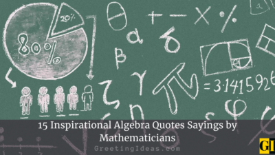 15 Inspirational Algebra Quotes Sayings by Mathematicians
