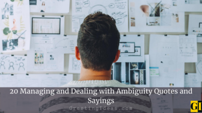 20 Managing and Dealing with Ambiguity Quotes and Sayings