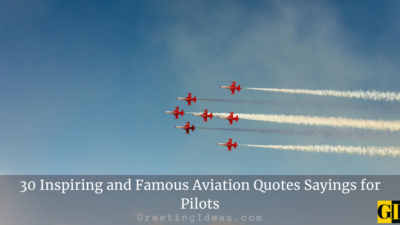 30 Inspiring and Famous Aviation Quotes Sayings for Pilots