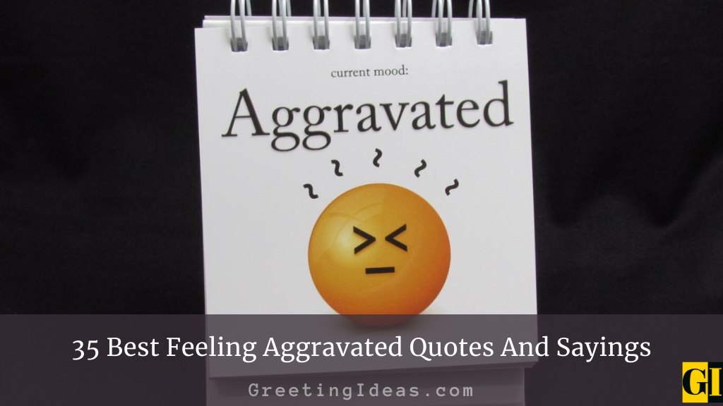 35 Best Feeling Aggravated Quotes And Sayings