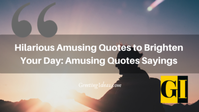 Hilarious Amusing Quotes to Brighten Your Day: Amusing Quotes Sayings