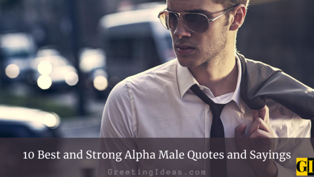 10 Best and Strong Alpha Male Quotes and Sayings