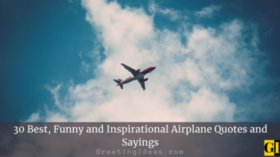 30 Best, Funny and Inspirational Airplane Quotes and Sayings