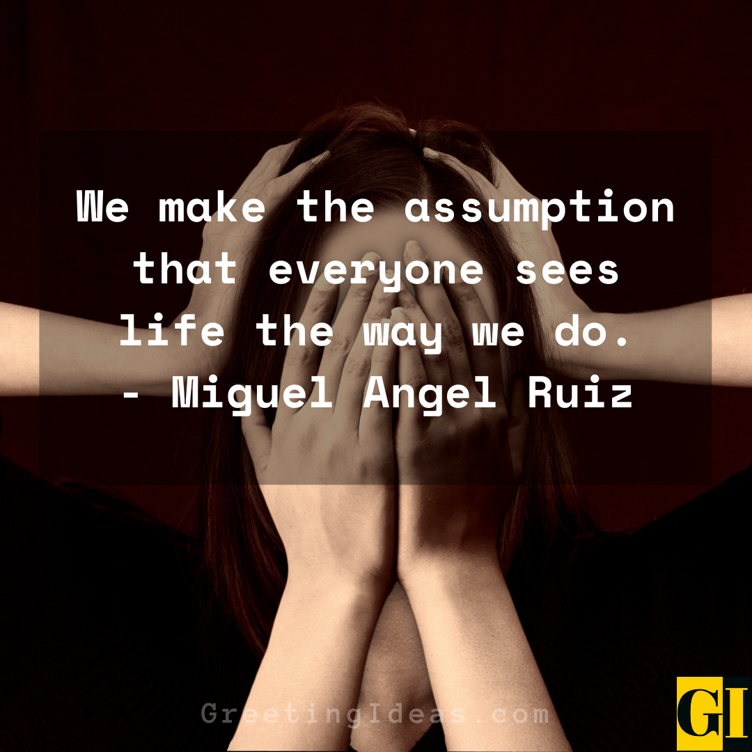 Assumptions Quotes Greeting Ideas 2