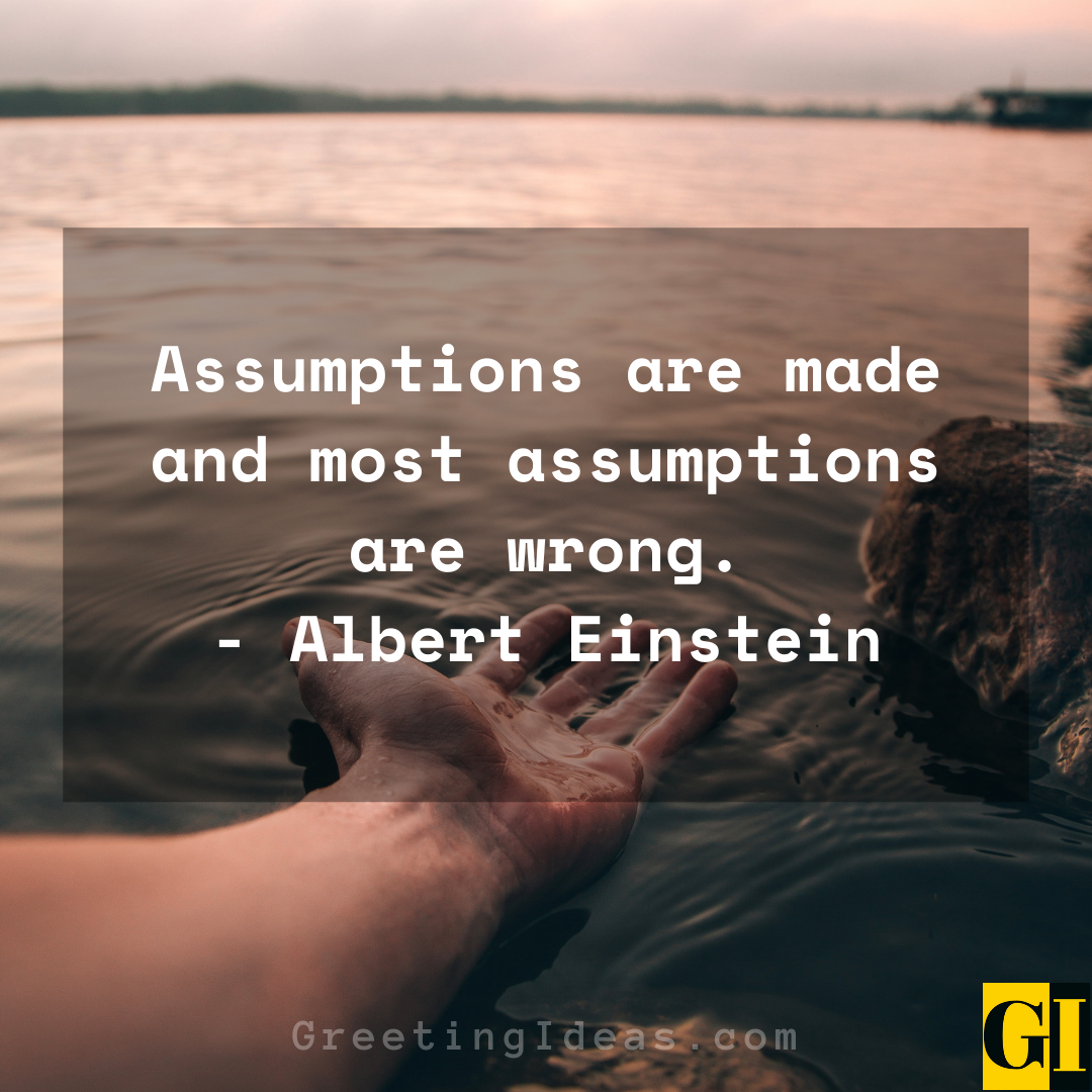 Assumptions Quotes Greeting Ideas 3