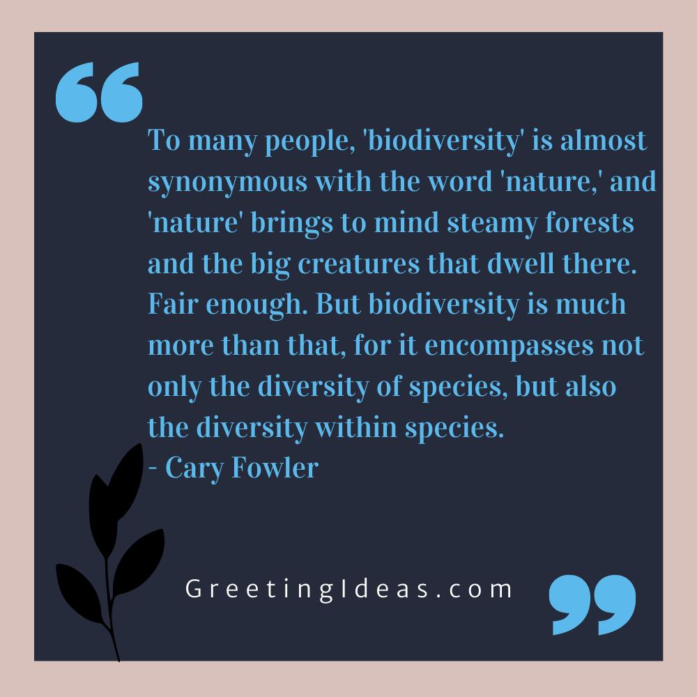 Biodiversity Quotes Greeting Ideas 12