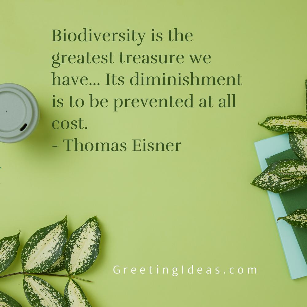 Biodiversity Quotes Greeting Ideas 3