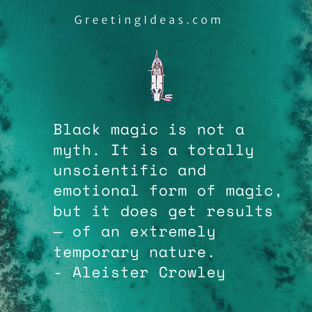 Black Magic Quotes Greeting Ideas 6