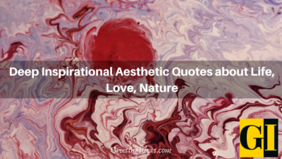 Deep Inspirational Aesthetic Quotes about Life, Love, Nature