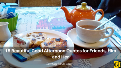 15 Beautiful Good Afternoon Quotes for Friends, Him and Her