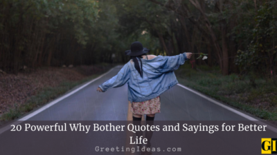 20 Powerful Why Bother Quotes and Sayings for Better Life