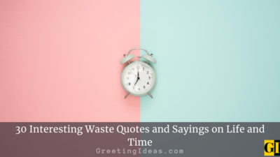 30 Interesting Waste Quotes and Sayings on Life and Time