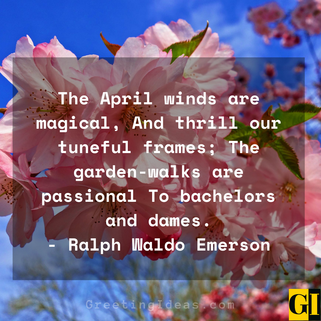 20 Happy and Welcome April Quotes and Sayings 1
