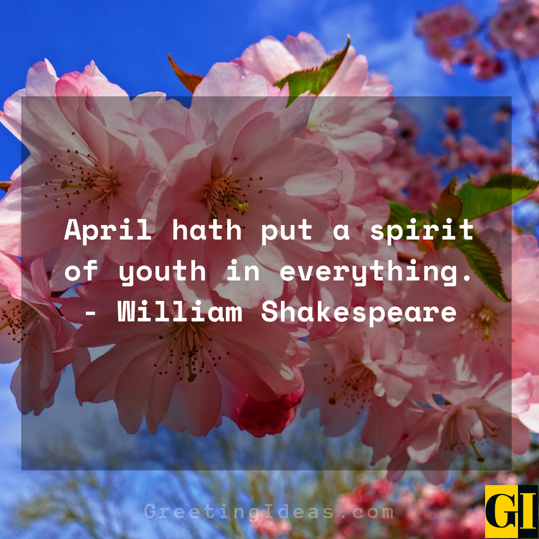 20 Happy and Welcome April Quotes and Sayings 3
