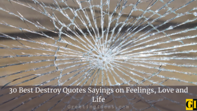 30 Best Destroy Quotes Sayings on Feelings, Love and Life