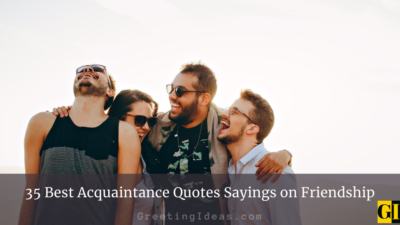35 Best Acquaintance Quotes Sayings on Friendship