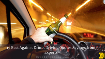 15 Best Against Drunk Driving Quotes Sayings from Experts