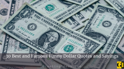30 Best and Famous Funny Dollar Quotes and Sayings