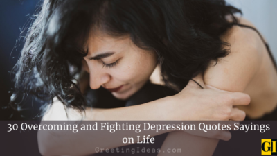 30 Overcoming and Fighting Depression Quotes Sayings on Life