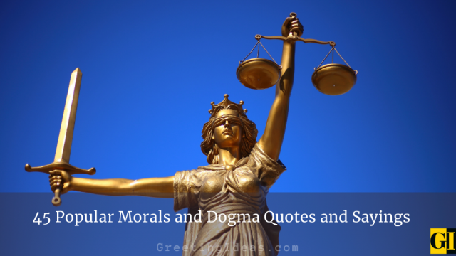 45 Popular Morals and Dogma Quotes and Sayings
