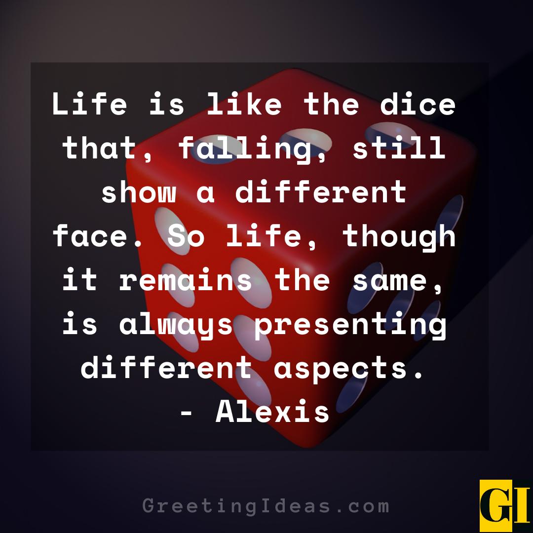 Dice Quotes Greeting Ideas 5