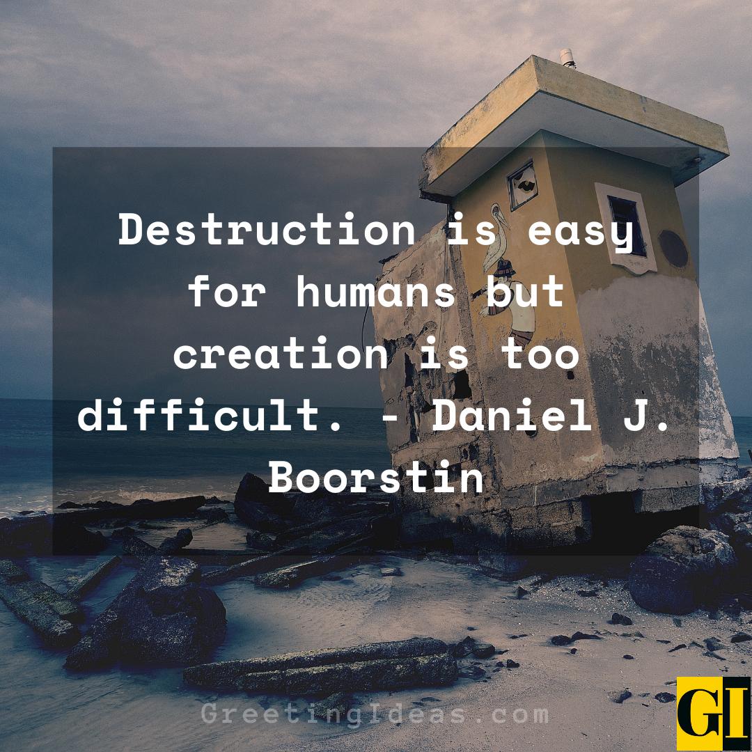 Destruction Quotes Greeting Ideas 2