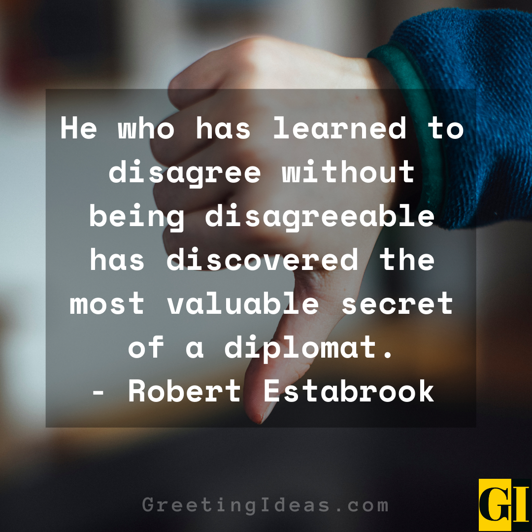 Disagreement Quotes Greeting Ideas 1