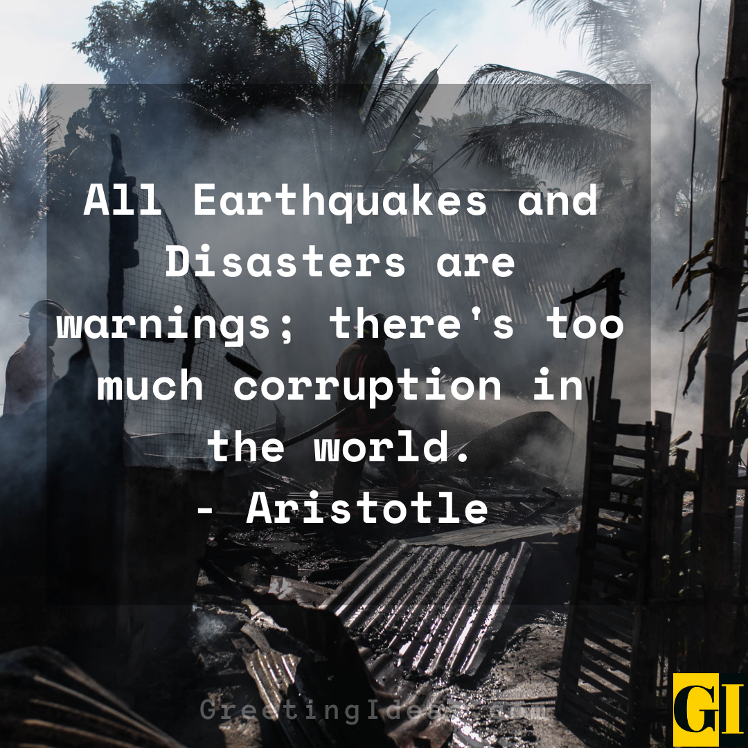 Disaster Quotes Greeting Ideas 1