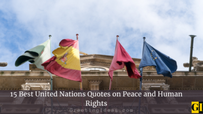 15 Best United Nations Quotes on Peace and Human Rights
