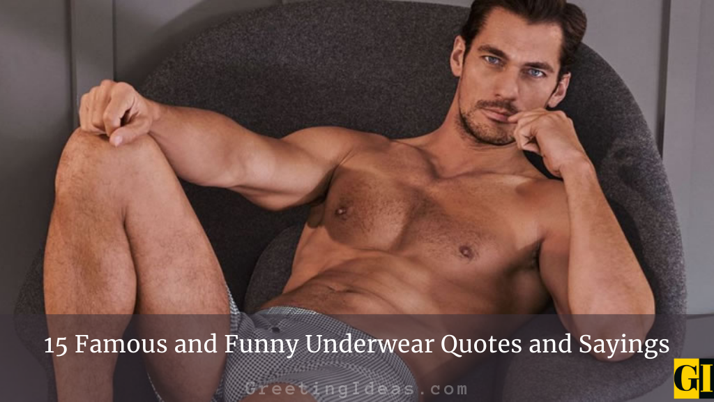 15 Famous and Funny Underwear Quotes and Sayings