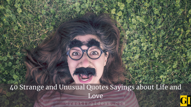 40 Strange and Unusual Quotes Sayings about Life and Love
