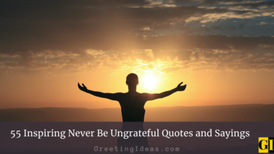 55 Inspiring Never Be Ungrateful Quotes and Sayings