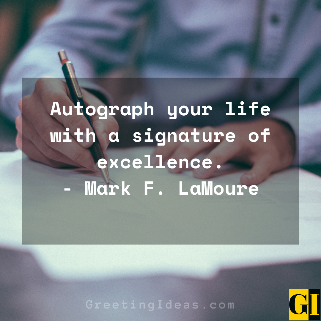 Autograph Quotes Greeting Ideas 1