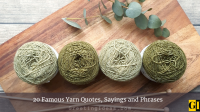 20 Famous Yarn Quotes, Sayings and Phrases