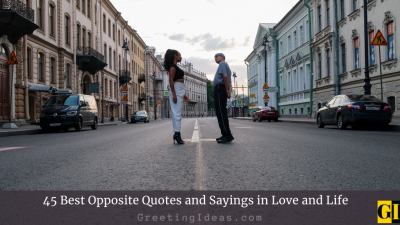 45 Best Opposite Quotes and Sayings in Love and Life