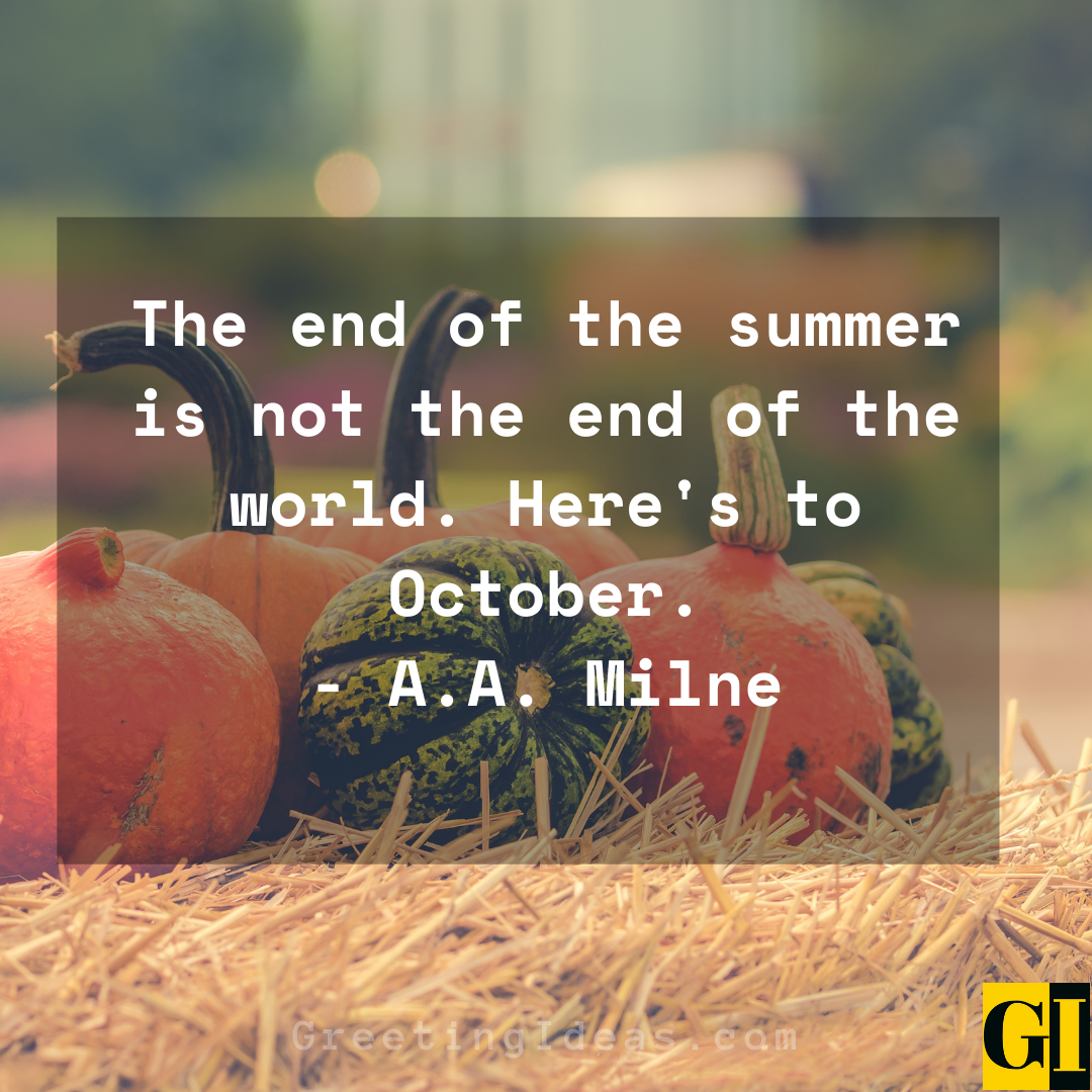 October Quotes Greeting Ideas 2