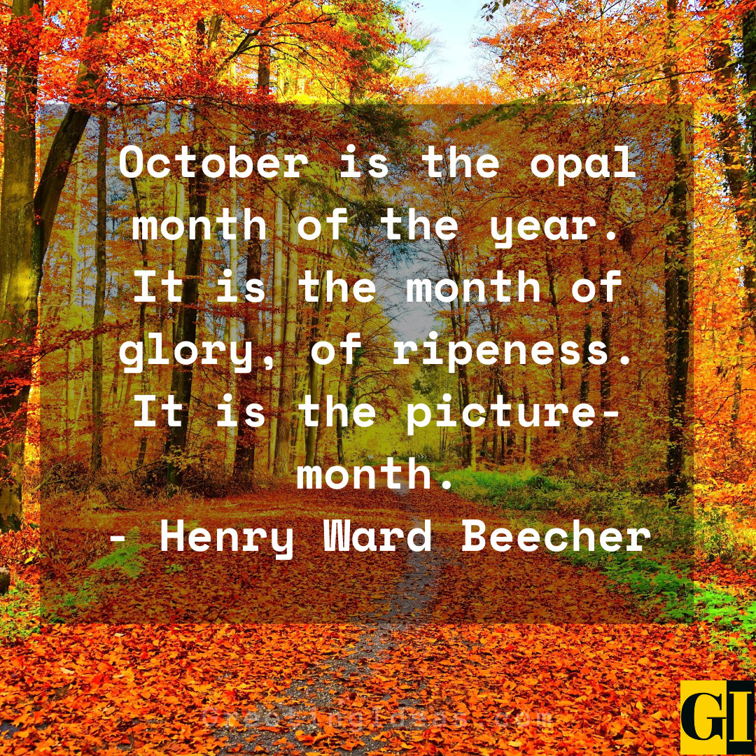 October Quotes Greeting Ideas 5