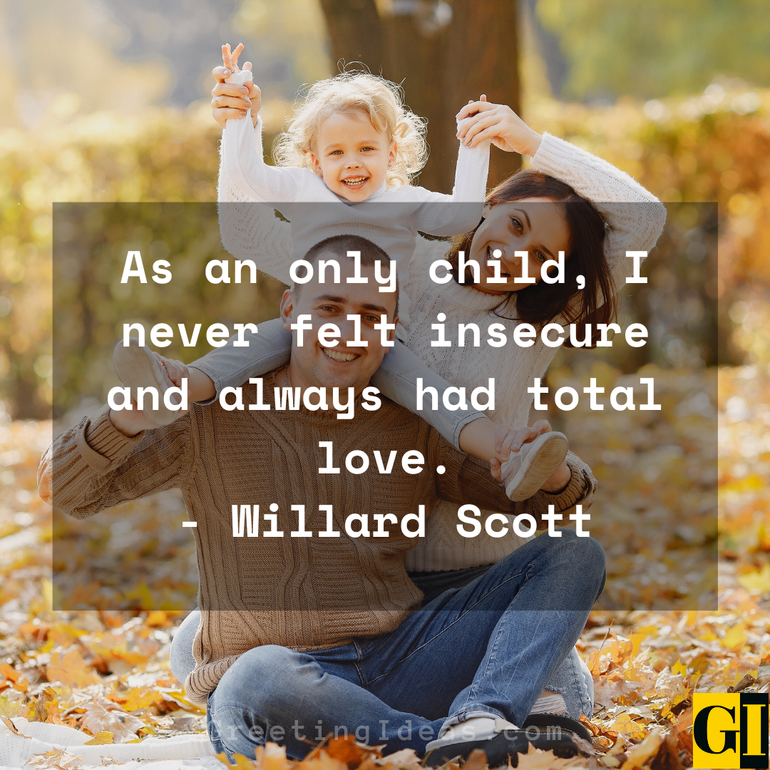 Only Child Quotes Greeting Ideas 2